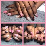 Pink, Burgundy, Glitter