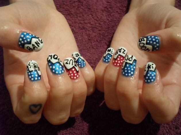 Comic nail art!