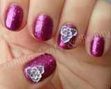 Purple Rockstar with 3D Flowers
