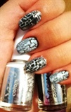 Black&White Crackle Nails!