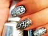 Black&White Crackle Nails!