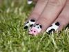 Fun Cow Nail Art