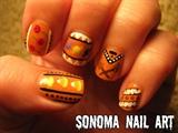 Tribal Halloween Nails