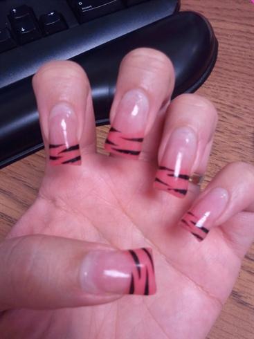 Pink Day Glow Zebra (Glows in the dark)