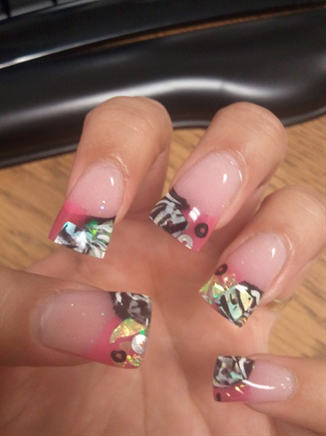 Black & Pink Zebra Inspired Nails