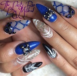 Halloween, Skeleton Nails