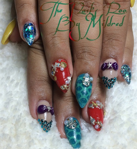 The Little Mermaid Inspired Nails