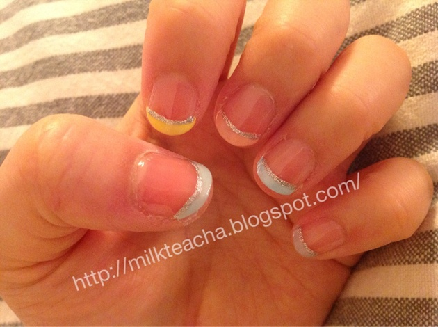 Easter color french tip nail nail art gallery easter color french tip nail prinsesfo Images