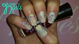 Comic Strip/Newspaper print nails.