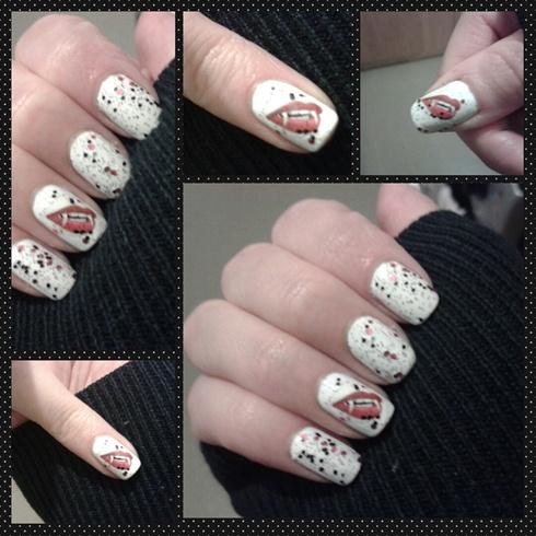 Vampire Decal Nails