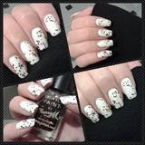Simple White w/ Glitter.