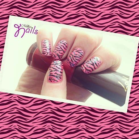 Pink Zebra Stripes