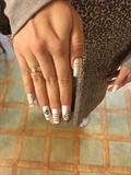 White Full Coverage Nails