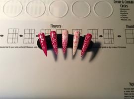 nail art: Pink & White Valentine