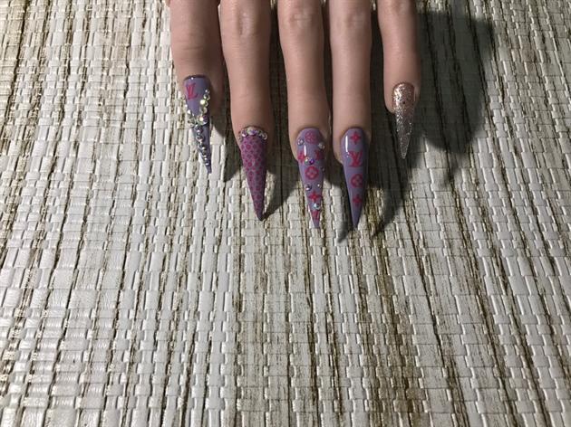 Purple & Pink LV