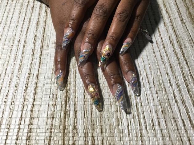 Multi Colored & Glitter