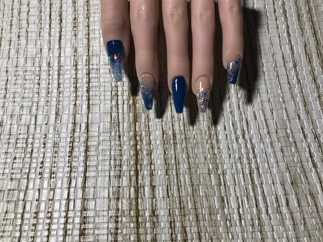 Royal Blue & Nude