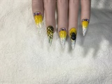 Yellow & Black Halloween Nails