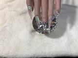 Winter Glittery Nails