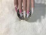 Pink & White Snow Flakes