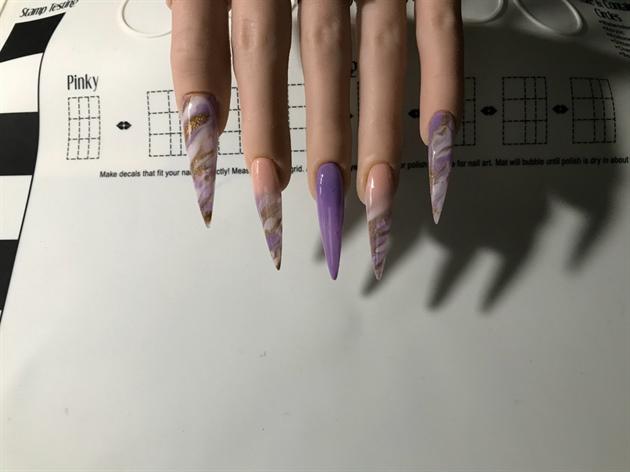 Purple & Nude