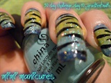glitter animal print nails