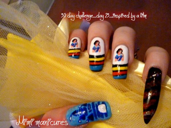 disney snow white nails