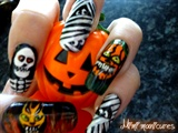 spooky halloween nail art