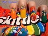 skittle naill art