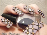 burlesque netting nails with studs