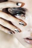 Silver Lightning Minx Nails