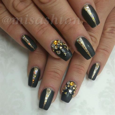 Matte Black w/ gold