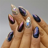 Galaxy Nails with Swarovaki Crystals