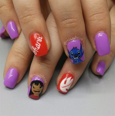 Lilo and Stitch Nails