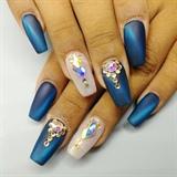 Matte Cateye Nails