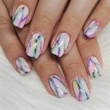 Apres Art Ink Marble Nails