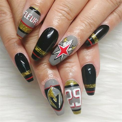 Las Vegas Golden Knights Nails