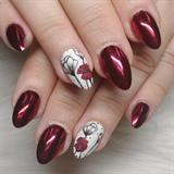 Glass Gel floral nails
