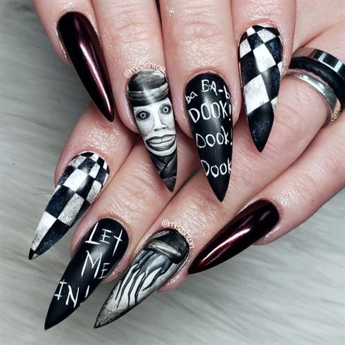 Babadook Nails