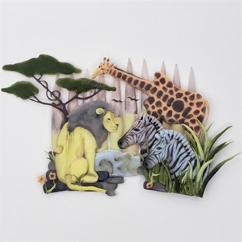 Musical Safari Nail Art