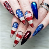 Patriotic country girl nails