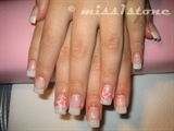 natural look/pink flower