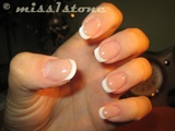 naturally shaped short nails with french