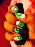 Flag Inspired Nail Art.