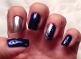 Blue Silver & Swirl