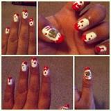Hello Kitty Zombie nails.