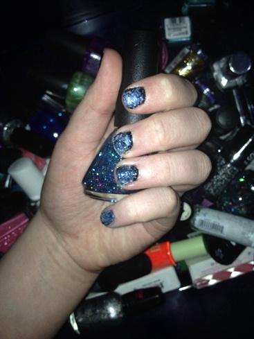 Easy Classy Galaxy Nails