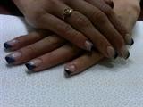 Triangle black, silver, blue