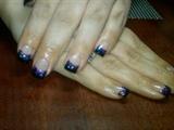sparkle purple orchid /black