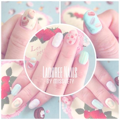 LADUREE Inspired Nails